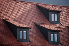 Attic windows Stock Photography