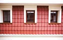 Attic with windows and red tile Royalty Free Stock Image