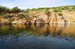 Attica的希腊Vouliagmeni湖 图库摄影