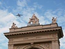 Attica do portal de um parque municipal com um aircraf Foto de Stock