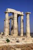Attica, Poseidon Temple columns Royalty Free Stock Image