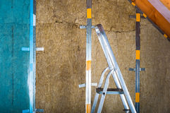loft insulation stock image image of attic wool. Black Bedroom Furniture Sets. Home Design Ideas
