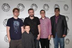 Atticus Shaffer, Dana Snyder, átomos de Maxwell, Justin Roiland Imagens de Stock