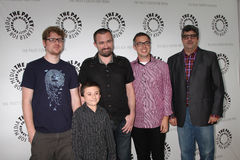 Atticus Shaffer, Dana Snyder, atomes de Maxwell, Justin Roiland Images stock