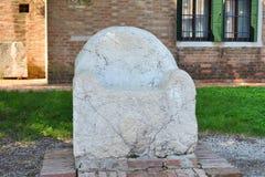 Attila the Hun's Throne in Torcello, Venice Stock Photography