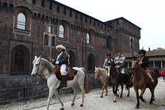 Attila Verdi от La Scala вторгается город с первое широко распространенное 2018 - Милан, Ломбардия, Италия стоковые фотографии rf