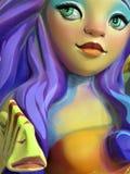 Attina probeert een Nieuwe Haarkleur - Lilac Verbrijzeling royalty-vrije stock foto