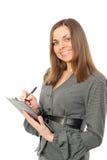 attire biznesowych mienia planisty kobiety potomstwa Zdjęcia Royalty Free