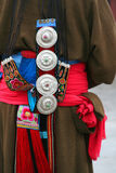 Attire ornament of tibetan lady. Colorful and beautiful traditional attire attire ornament of tibetan lady Stock Image
