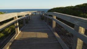 Attis point boardwalk on Great Ocean Road in Australia at sunset stock footage