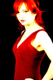Attitude In Abstract. Abstract portrait of red headed female Royalty Free Stock Photo