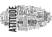 Attitude Adjustment Nine Ways To Transform You From Mediocre To Magnificentword Cloud. ATTITUDE ADJUSTMENT NINE WAYS TO TRANSFORM YOU FROM MEDIOCRE TO Royalty Free Stock Photography