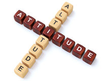 Attitude and Altitude crosswords Royalty Free Stock Photo