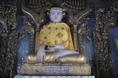 Attitude of the Buddha subduing Mara. Stock Photos