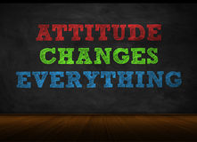 Attitude Changes Everything. Blackboard concept Royalty Free Stock Photo