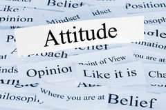 Attitude Concept. A conceptual look at attitude Royalty Free Stock Photo