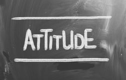Attitude Concept. Concept Handwritten With Chalk On A Blackboard Royalty Free Stock Image