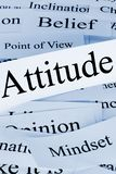 Attitude Concept in Words. A conceptual look at attitude, and associated concepts royalty free stock image
