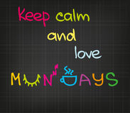 Attitude de lundi Photographie stock