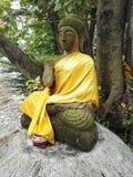 Attitude du Bouddha, protection Bouddha/crainte de franchissement images libres de droits