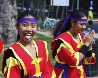 Attitude. Event: 2015 Okinawan Festival 05.IX.2015 Location: Kapi'olani Park, Waikiki, island of O'ahu, Hawai'i Subject: People make look and dress the same but stock image