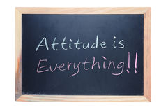Attitude is everything. Chalk drawing - Attitude is everything royalty free stock images