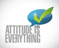 Attitude is everything approval message sign Stock Images