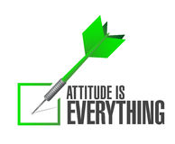 Attitude is everything approve check sign concept Stock Photography