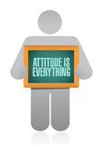 Attitude is everything avatar board sign concept Stock Photo