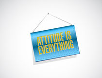 Attitude is everything banner sign concept Stock Images