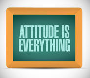 Attitude is everything board sign concept Stock Photography