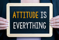 Attitude is everything Royalty Free Stock Image