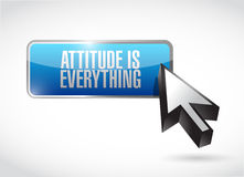 Attitude is everything button sign concept Royalty Free Stock Photos