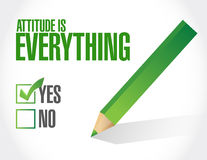 attitude is everything check list sign concept Royalty Free Stock Photo