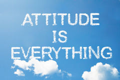 Attitude is  everything cloud word on sky Royalty Free Stock Image