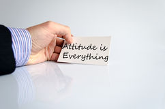 Attitude is Everything Concept. In business man hand Royalty Free Stock Photography