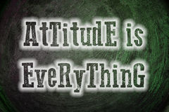 Attitude Is Everything Concept Stock Photos