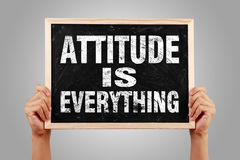 Attitude is everything Royalty Free Stock Images