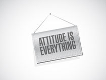 Attitude is everything hanging banner sign concept Royalty Free Stock Images