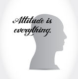 Attitude is everything head sign concept Royalty Free Stock Images