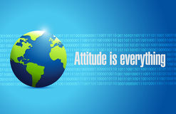 Attitude is everything international sign concept Stock Image