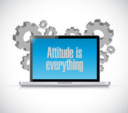 Attitude is everything laptop computer sign Royalty Free Stock Images