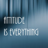 Attitude everything lettering Stock Image