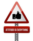 Attitude is everything like road sign concept Stock Images