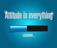 Attitude is everything loading bar sign concept Royalty Free Stock Photos