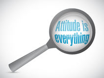 Attitude is everything magnify sign concept Royalty Free Stock Images