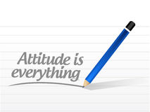 Attitude is everything message sign concept Stock Images