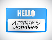 Attitude is everything name tag sign concept Stock Photo