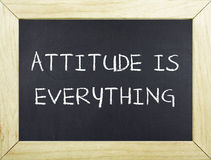 Attitude is Everything. Note on board royalty free stock photo