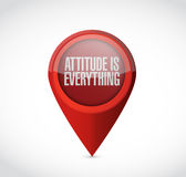Attitude is everything pointer sign concept Royalty Free Stock Image
